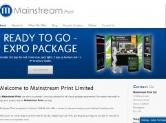 Main Stream Print Mobile Responsive Website