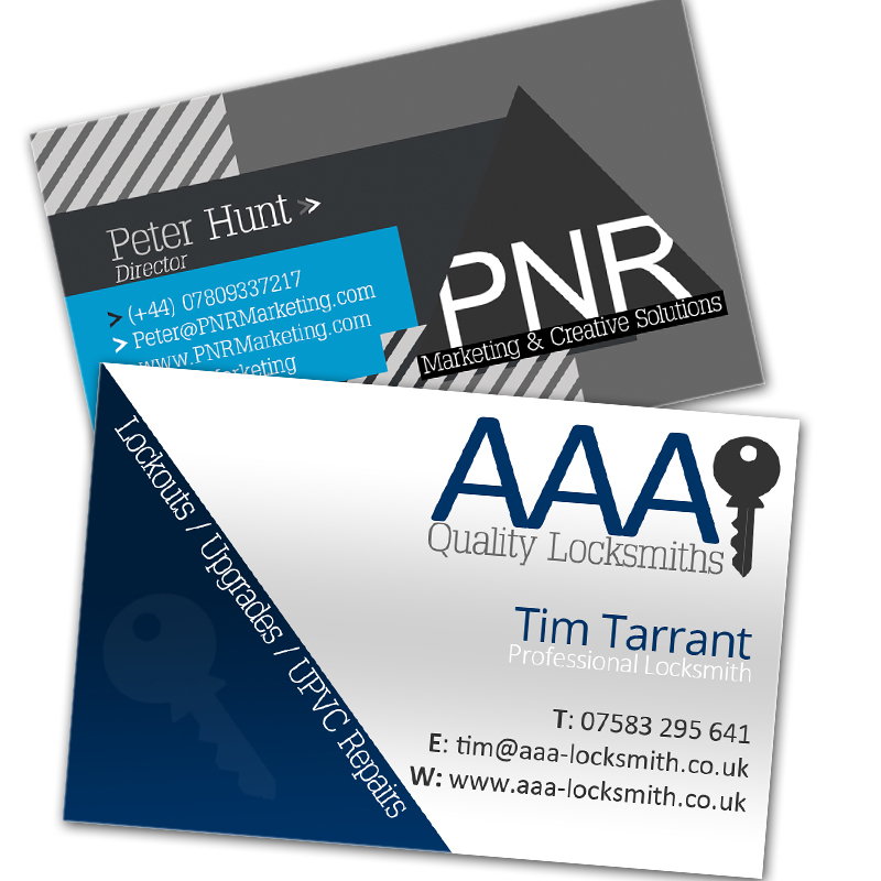 Double Sided Premium Silk Business Cards 400gsm - PNR Marketing Ltd ...