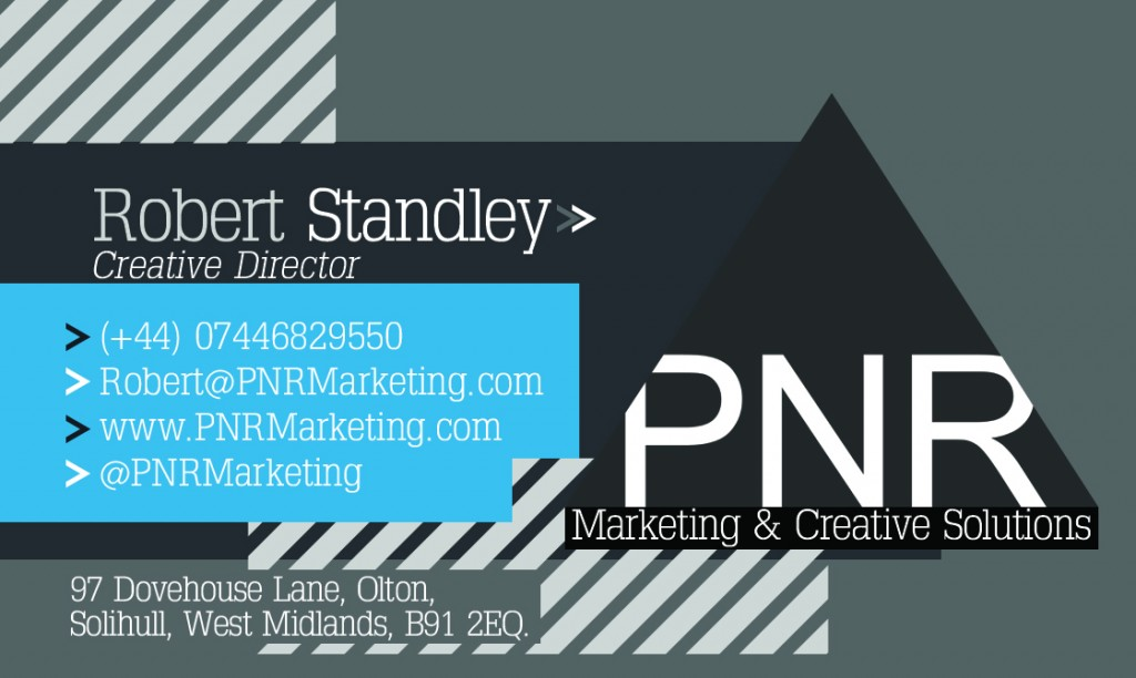 PNR Marketing Business Card