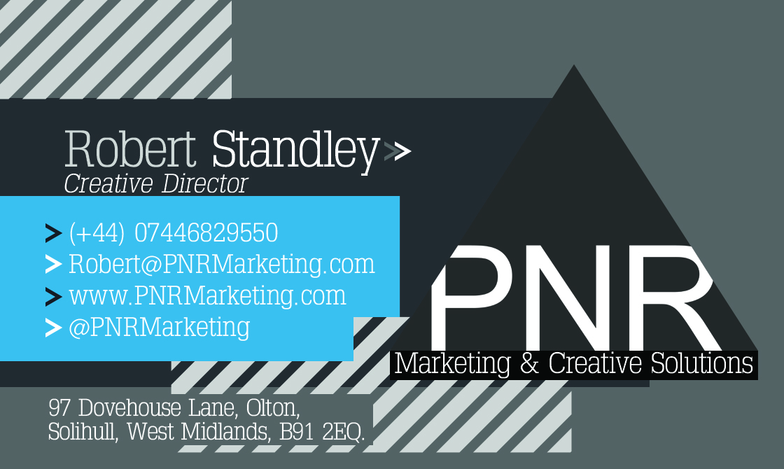 Digital print design midlands graphic design midlands printers pnr marketing business card reheart Gallery